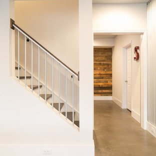 Basement - industrial basement idea in Atlanta