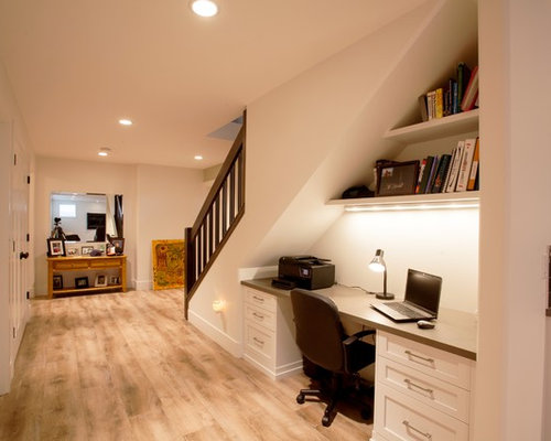 Desk Under Stairs Home Design Ideas Pictures Remodel And Decor