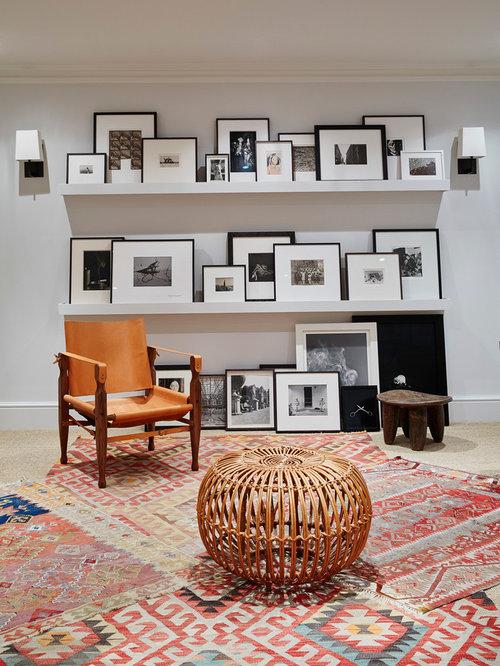 Contemporary Basement Designs Part - 25: Contemporary Multicolored Floor Basement Idea In London With White Walls