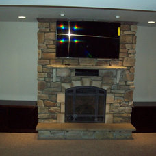 Traditional Basement by VG Contracting llc