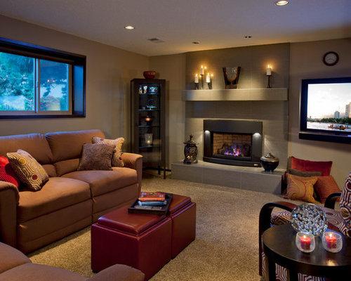 Best cozy basement design ideas remodel pictures houzz - 7 great basement design ideas ...