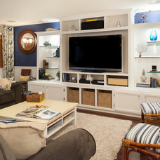 Beach Style Basement by Scott Lawrence Photography