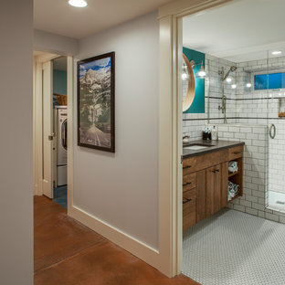 Example of a transitional basement design in Portland