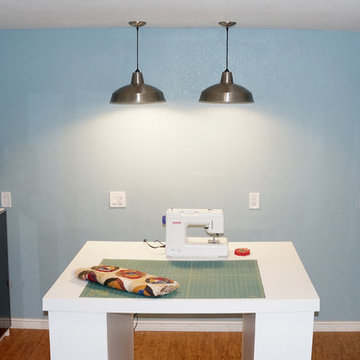 Craft Room in Unfinished Basement