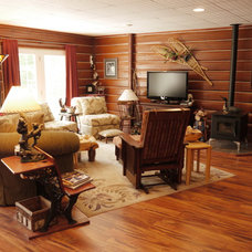 Craftsman Basement by Dickinson Homes