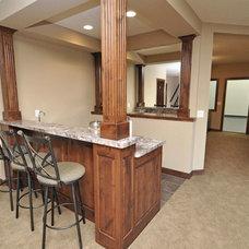 Craftsman Basement by Architectural Designs