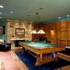 Craftsman Basement by Deimler & Sons Construction