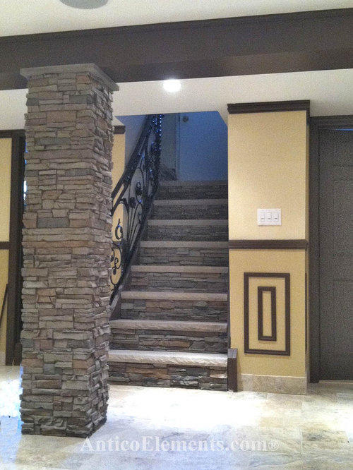 Faux Stone Columns Home Design Ideas Pictures Remodel