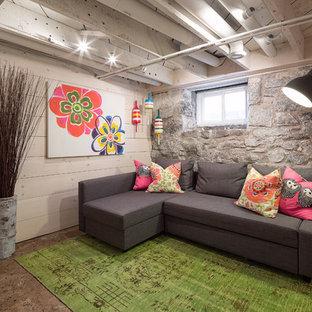 Midcentury basement in Ottawa.