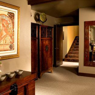 Idée de décoration pour un sous-sol asiatique.
