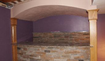 Curved stone bar