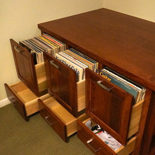 Custom Audio/Video/Vinyl Records cabinet