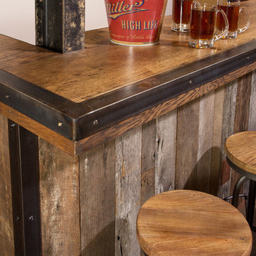 Custom Bar with Rustic Details