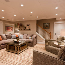 Contemporary Basement by Michael Robert Construction