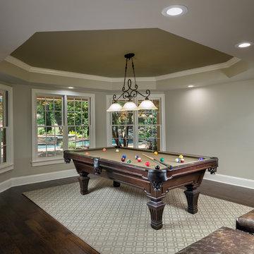 Custom Basement and Billiard Room