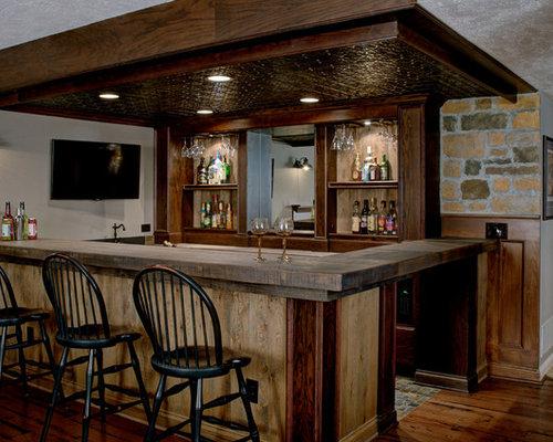 custom basement bar houzz. Black Bedroom Furniture Sets. Home Design Ideas