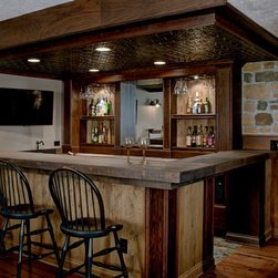 Rustic Ceiling Basement Design Ideas Pictures Remodel Decor