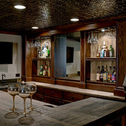 rustic ceiling basement design ideas pictures remodel decor