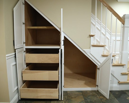 Basement Stair Storage Houzz