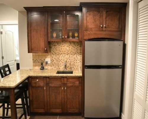 basement kitchenette houzz. Black Bedroom Furniture Sets. Home Design Ideas