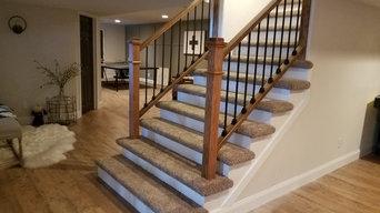 Custom built handrail to basement