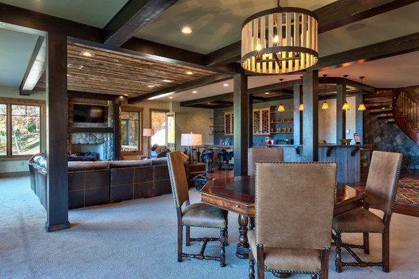 Traditional Basement by Advance Cabinetry
