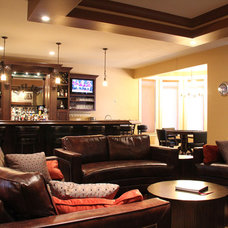 Contemporary Basement by Sawlor Built Homes