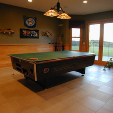 Traditional Basement by Fein Design