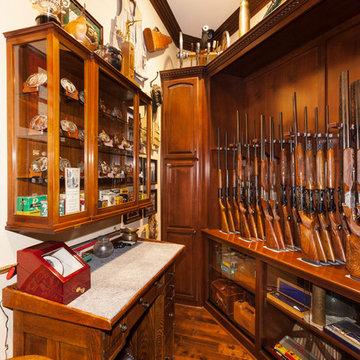 Custom Home Bar & Gun Safe