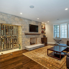 Transitional Basement by Newgard Custom Homes