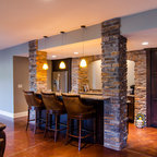 armynster lake house eclectic basement milwaukee by degnan
