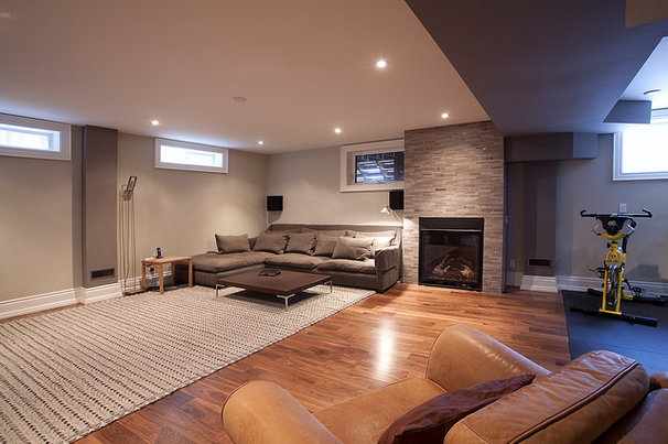 Contemporary Basement by HUSH