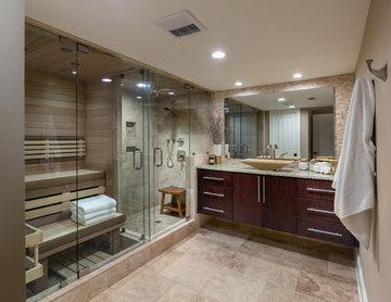 Custom Spa Bathroom and Basement
