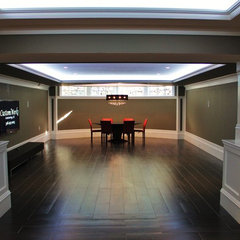 traditional basement by CustomWorks Contracting, LLC