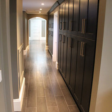 Contemporary Hall by CustomWorks Contracting, LLC