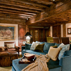 Traditional Basement by Pearson Design Group