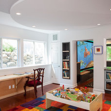Eclectic Basement by Forward Design Build