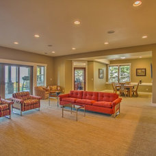 Craftsman Basement by Choice Construction