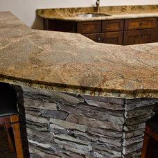 Traditional Basement by Granite Grannies