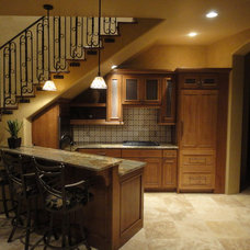 Traditional Basement by Andrews Home Design Group LLC