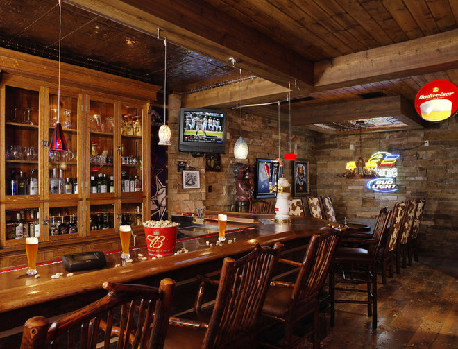 Rustic Basement by Residential Systems, Inc.