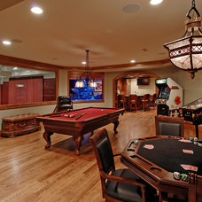 Traditional Basement by BOWA
