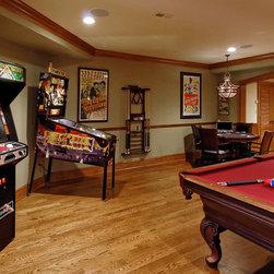 Traditional Indoor Sport Court Type Basement Design Ideas