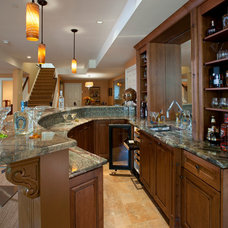 Traditional Basement by WPL Interior Design