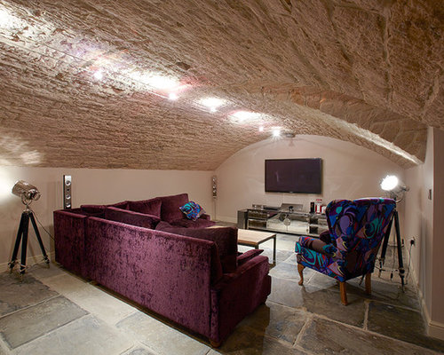 7 Basement Ideas On A Budget Chic Convenience For The Home: Best 100 Shabby-Chic Style Basement With Beige Walls Ideas