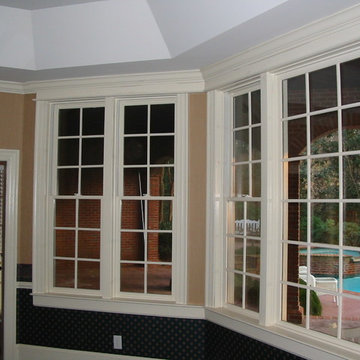 Double-hung and fixed windows