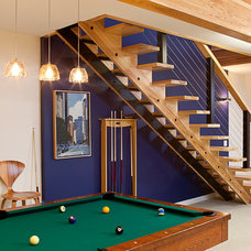 Contemporary Basement by Dovetail Construction