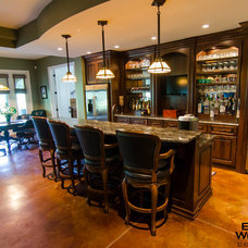 Traditional Basement by Brown Wegher Construction