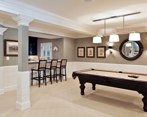 Best basement wainscoting design ideas remodel pictures houzz - Best basement design ...