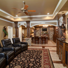 Traditional Basement by Home Expressions Interiors by Laura Bloom Inc.